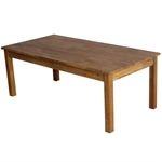 Homegear Solid Oak Coffee Table