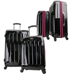 Swiss Case 4 Wheel EZ2C 2Pc Suitcase Set PINK