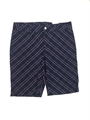 Ashworth Ladies Modern Navy Shorts with Pink Check