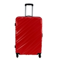 Swiss Case 4 Wheel Wave Large Suitcase Red