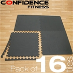 16x Confidence Interlocking Floor Tiles 64 sq ft